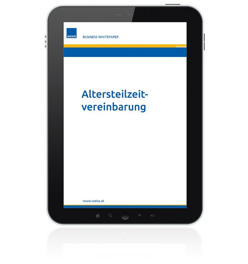 Altersteilzeitvereinbarung - Business Whitepaper